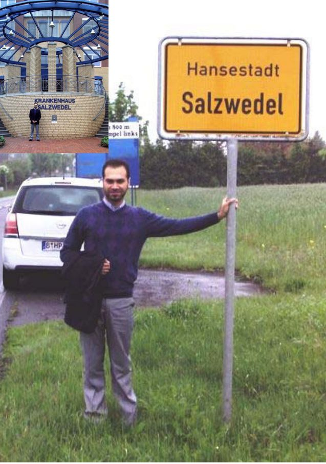 New-Hanseat Doctor Ahmad Zahed Keitou from Aleppo in Syria after the successful B2 - Start as physician in Salzwedel in May 20, 2010!